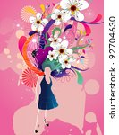 female fashion vector | Shutterstock .eps vector #92704630