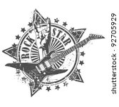rock star stamp | Shutterstock .eps vector #92705929