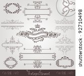 old royal vintage banner border ... | Shutterstock .eps vector #92710498