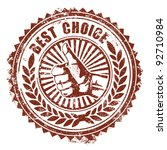 best choice stamp | Shutterstock .eps vector #92710984