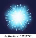 vector fireworks blue...