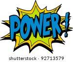 power | Shutterstock .eps vector #92713579