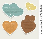 love heart bubbles set   Shutterstock .eps vector #92716147