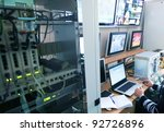 up-to-date control center - stock photo
