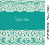 blue green beige lace background | Shutterstock .eps vector #92729500
