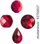 Ruby Red Vector Beads
