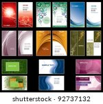 set of colorful business cards. ... | Shutterstock .eps vector #92737132