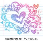 valentine's day love   hearts... | Shutterstock .eps vector #92740051
