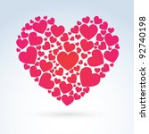 vector valentine heart | Shutterstock .eps vector #92740198