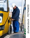 car refueling | Shutterstock . vector #92740603