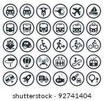 set of vector transportation... | Shutterstock .eps vector #92741404