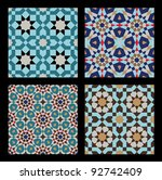 morocco seamless patterns set.... | Shutterstock .eps vector #92742409
