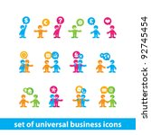 collection of universal... | Shutterstock .eps vector #92745454