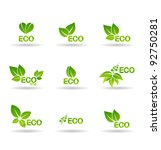 ecology icon set. eco icons. | Shutterstock .eps vector #92750281