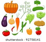 set of isolated colorful... | Shutterstock .eps vector #92758141