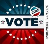 patriotic voting poster   Shutterstock . vector #92759476