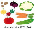 set of colorful isolated... | Shutterstock .eps vector #92761744
