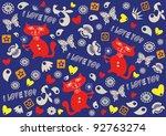 festive background  valentine's ... | Shutterstock .eps vector #92763274