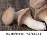king trumpet mushrooms on a... | Shutterstock . vector #92766361