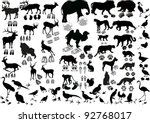 illustration with animals and... | Shutterstock .eps vector #92768017