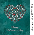 Valentine S Card With Heart Of...