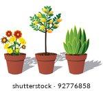 potted plants eps 8 vector ...   Shutterstock .eps vector #92776858