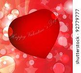 valentines day vector... | Shutterstock .eps vector #92779777