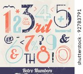 various vintage number and... | Shutterstock .eps vector #92783791