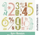 various vintage number and... | Shutterstock .eps vector #92783800