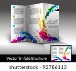 tri fold brochure design... | Shutterstock .eps vector #92786113