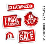 final clearance sale stickers. | Shutterstock .eps vector #92791531