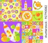 background baby bottles and...   Shutterstock .eps vector #92793082