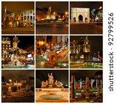 rome in the night. di trevi...   Shutterstock . vector #92799526