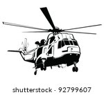 isolated helicopter vector... | Shutterstock .eps vector #92799607