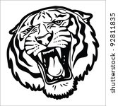 tiger head silhouette   vector... | Shutterstock .eps vector #92811835