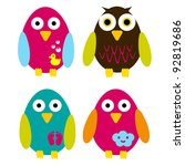 colorful birds | Shutterstock .eps vector #92819686