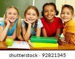 portrait of smart... | Shutterstock . vector #92821345