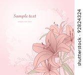 vintage floral card   Shutterstock .eps vector #92824324