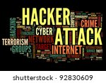 Hacker Attack Concept In Word...