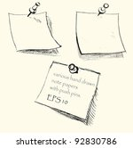 hand drawn note papers with... | Shutterstock .eps vector #92830786