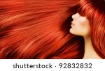 healthy long hair | Shutterstock . vector #92832832