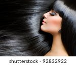 beautiful brunette girl.... | Shutterstock . vector #92832922