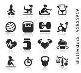 fitness icons set elegant series | Shutterstock .eps vector #92835919