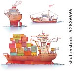 there are three type of a ships ... | Shutterstock .eps vector #92836696