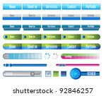 navigation web menu with... | Shutterstock .eps vector #92846257