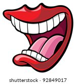 mouth | Shutterstock .eps vector #92849017