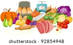 illustration of isolated food...   Shutterstock .eps vector #92854948