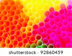 Closeup Of Drinking Straws Fro...