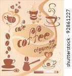 vector set  coffee design... | Shutterstock .eps vector #92861227