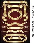 gold ribbons | Shutterstock .eps vector #9286585